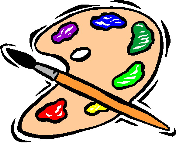 579x471 Face Painting Brush Clipart