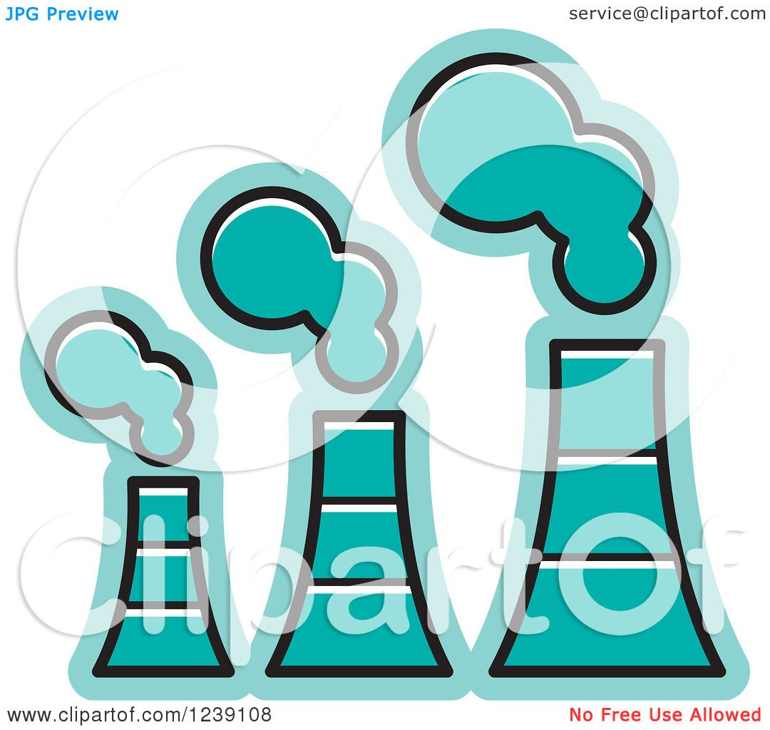 1080x1024 Clipart Of A Turquoise Factory