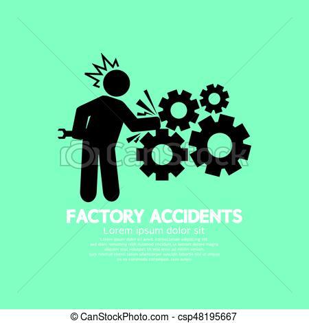 450x470 Factory Accidents Black Symbol Vector Illustration Clip Art Vector