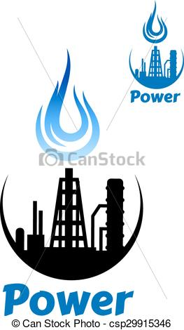 263x470 Factory Or Industrial Plant With A Gas Flame Above A Eps Vector