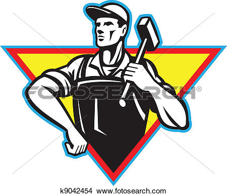 450x389 Factory Workers Clipart