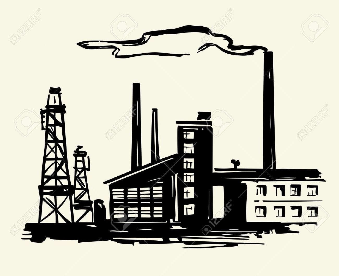 1300x1061 Awesome Factory Clipart Design