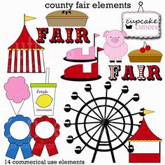 236x236 County Fair Clipart Personal And Limited Commercial Use Blue