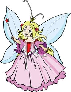 232x300 Clip Art Image A Childlike Queen Fairy