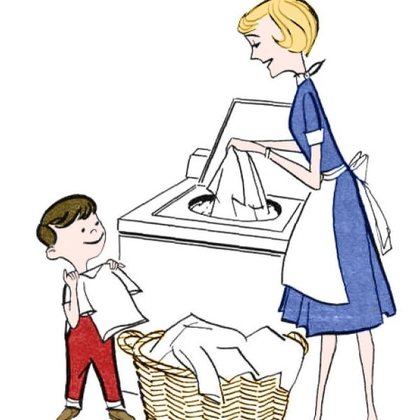 600x600 Retro Clip Art Laundry Day The Graphics Fairy With Kids Help