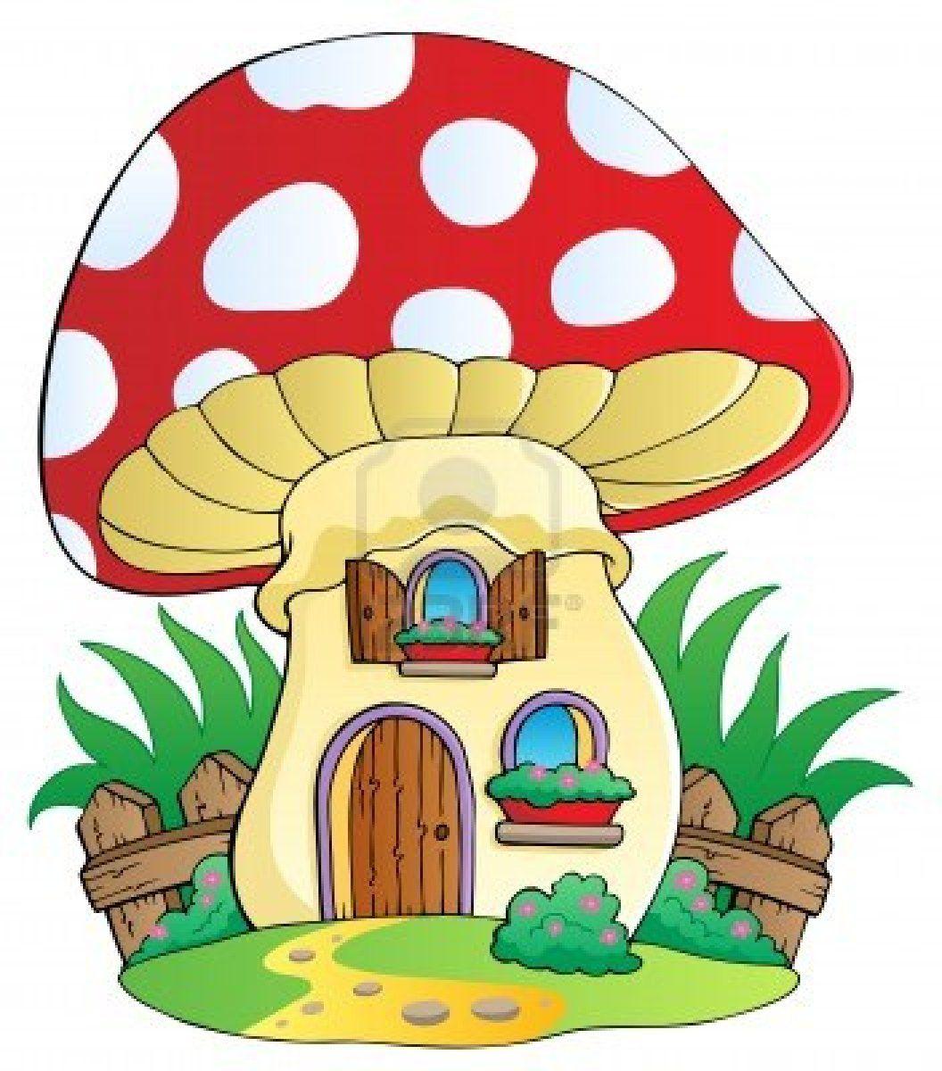 1056x1200 Cartoon Paddestoel Huis
