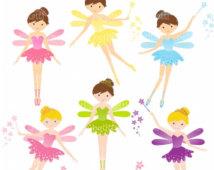 214x170 Cute Fairies Clipart