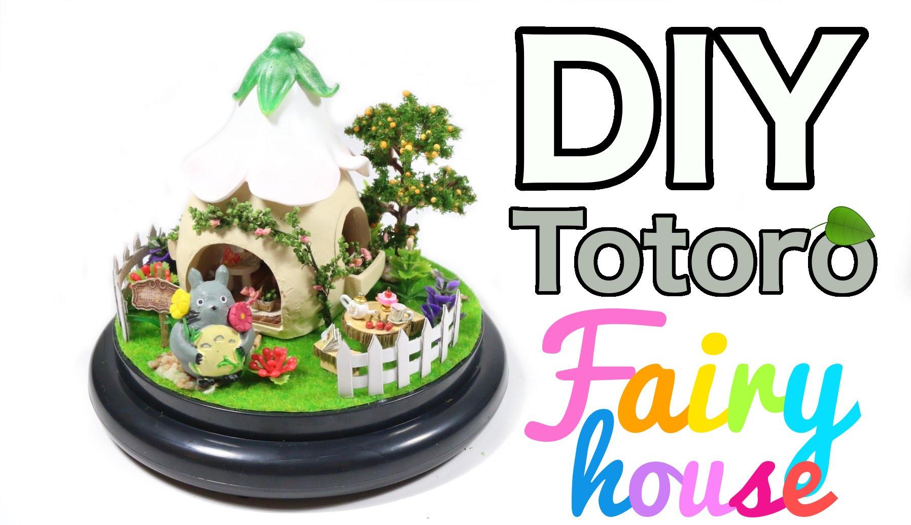 1796x1035 Diy Miniature Totoro Fairy House