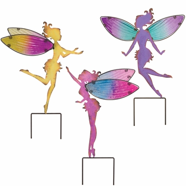 375x375 Large Fairy Garden Stakes Set Of 3