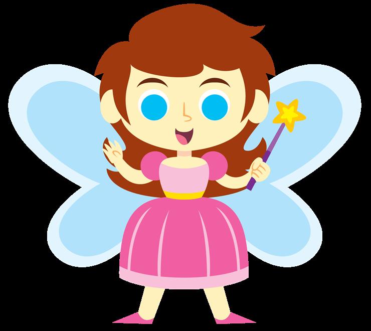 740x660 Pretty Fairy Cliparts