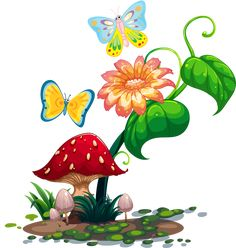 236x248 2bce7cce Flowers And Mushrooms Clip Art