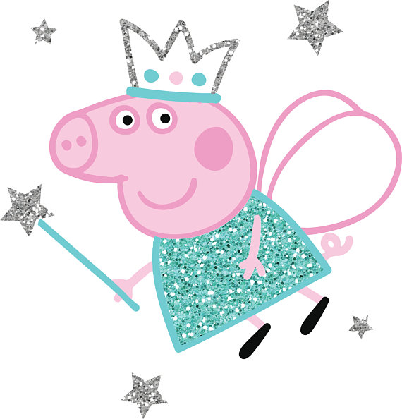 570x594 Peppa Pig Fairy Princess For Cutting And Printing Layered Svg
