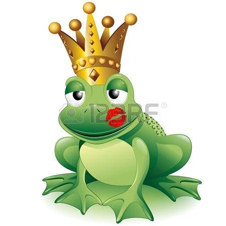 450x450 Prince Frog Cartoon Clip Art With Princess Kiss Stock Vector