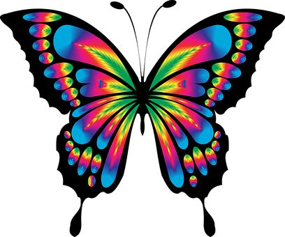 408x340 Fairy Tail Clipart Butterfly