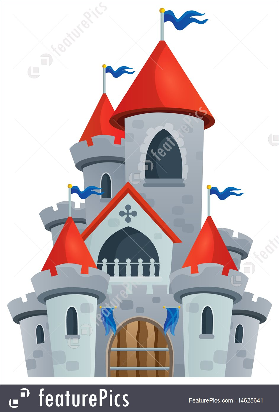 943x1392 Fairy Tale Clipart Red Castle