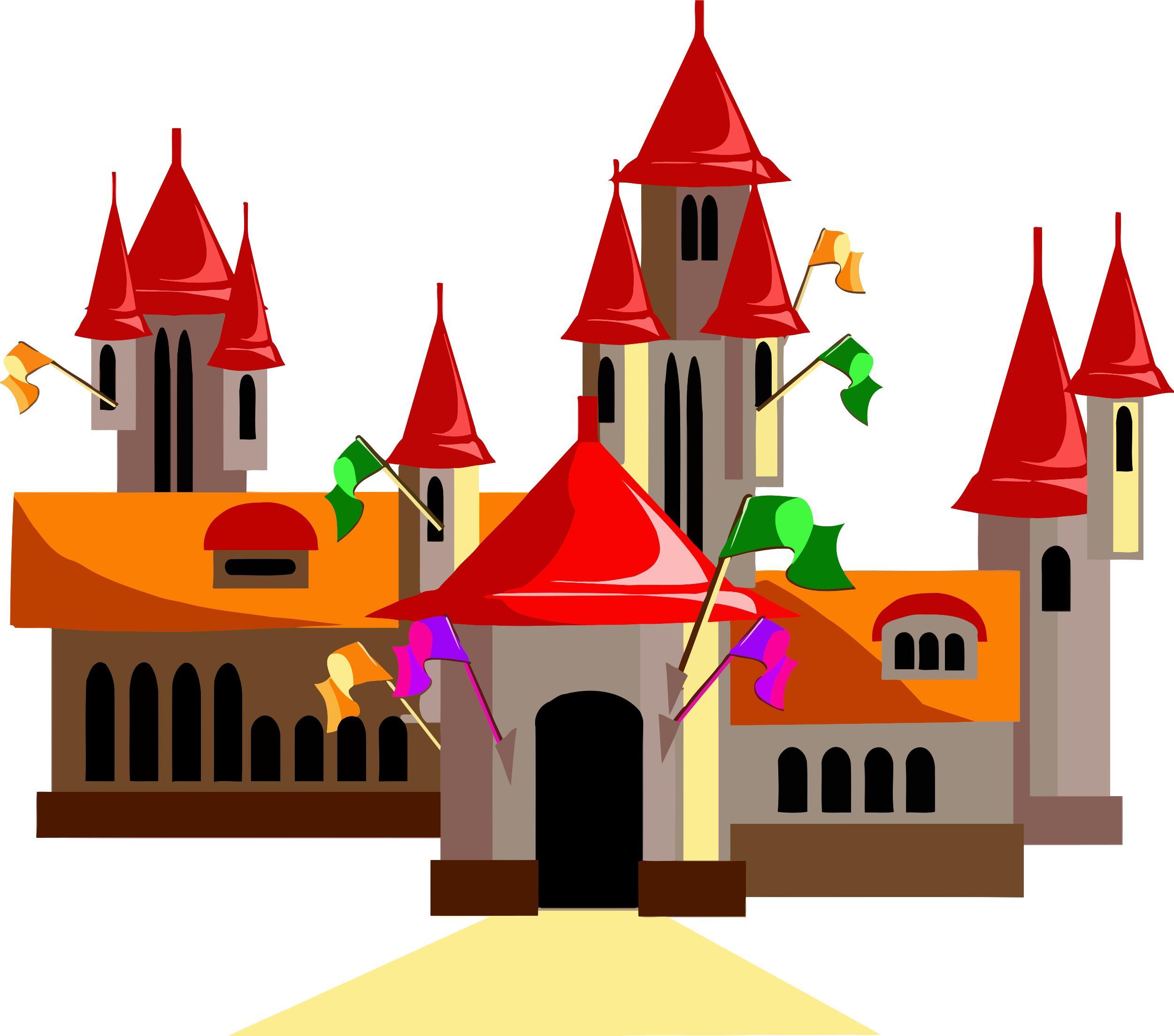 2501x2207 Fairytale Castle 15 Clipart