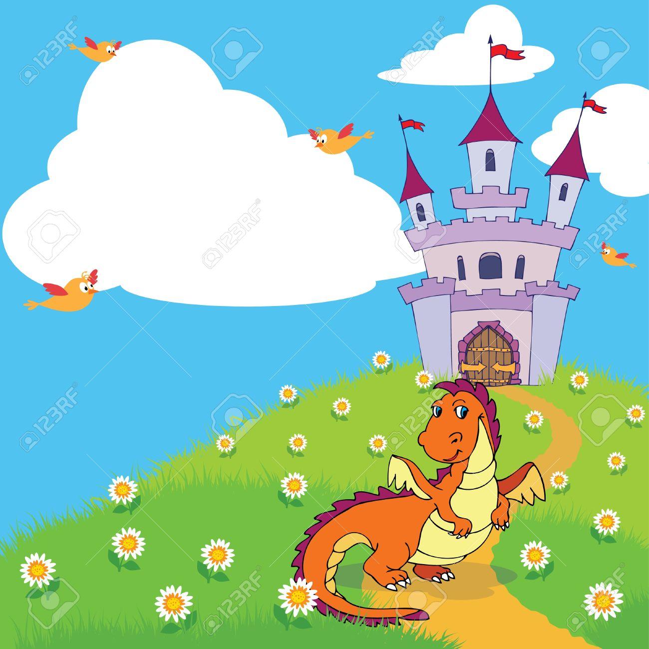1300x1300 Fairy Tale Clipart Cute Dragon