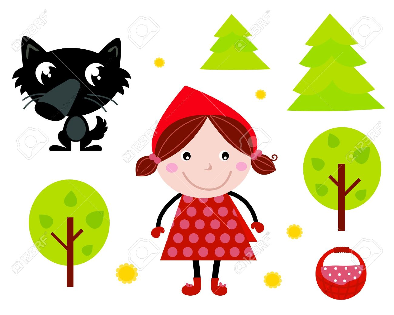 1300x1041 Fairy Tale Clipart Little Red Riding Hood