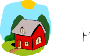 298x186 Fairy Tale House Clip Art