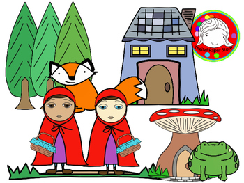 350x263 Little Red Fairy Tale Clipart Set (Personal Amp Commercial Use) Tpt