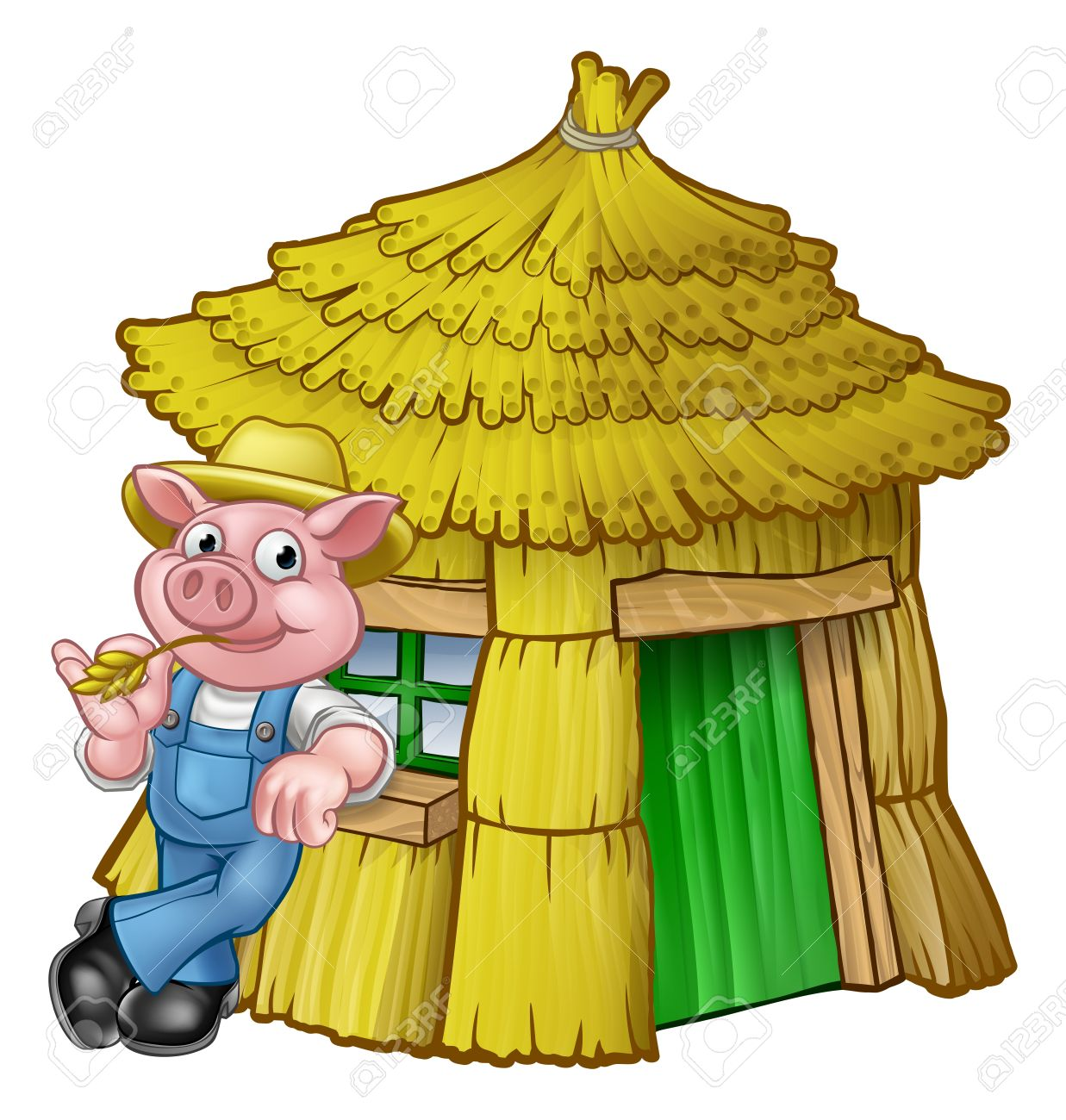 1237x1300 Straw House Clipart 85466224 Three Little Pigs Fairy Tale Straw