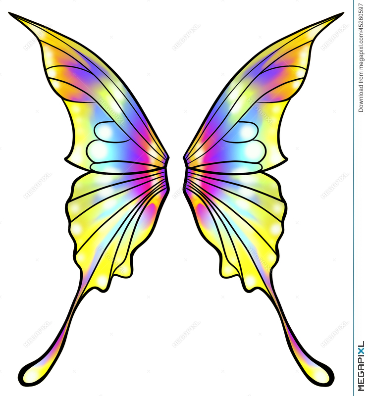 743x800 Fairy Or Butterfly Wings Isolated Illustration 45260597
