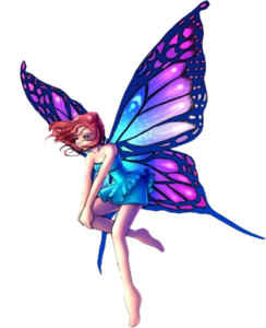 244x300 Fantasy Fairy Standing Big Purple Wings Free Images