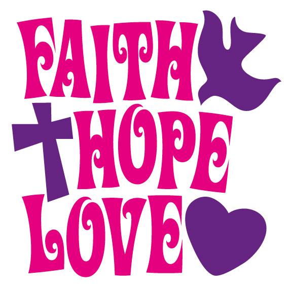 576x574 Faith Hope Love Clipart