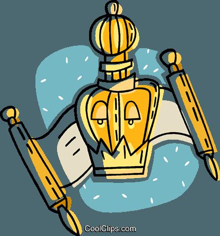447x480 Scroll Jewish Faith Royalty Free Vector Clip Art Illustration