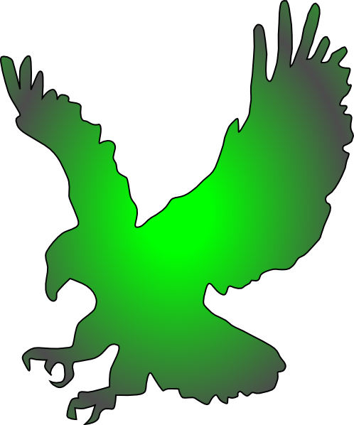 498x598 Falcon Clipart Green