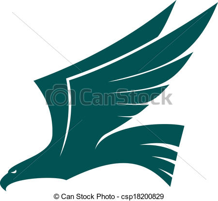 450x415 Flying Falcon Clipart