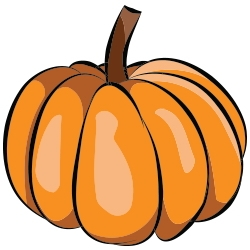 250x250 Fall Thanksgiving Pumpkin Clip Art 1 Free Stationery Clipart