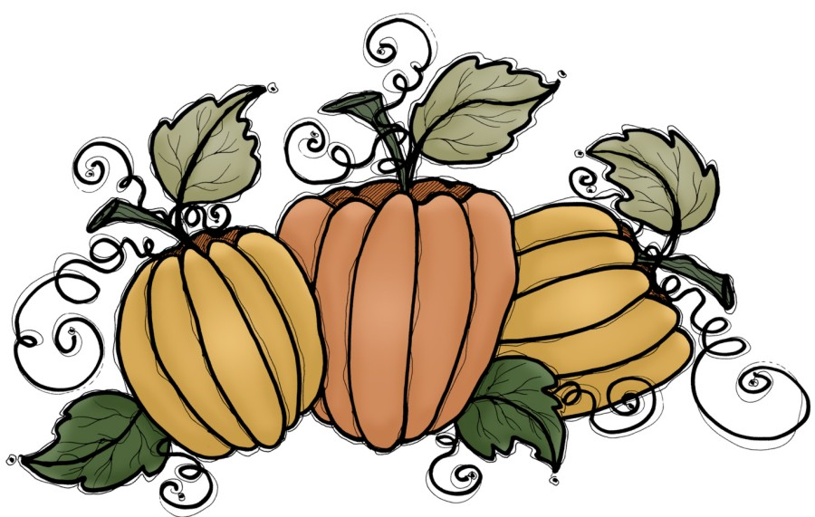 900x571 Thanksgiving Pumpkins Clipart