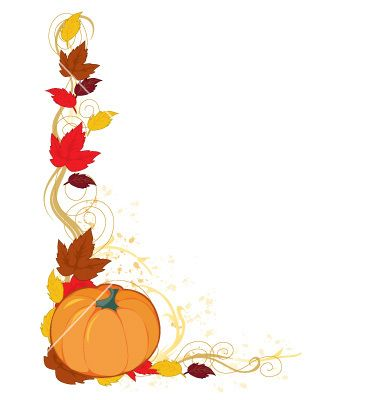 380x400 Fancy Fall Background Clipart