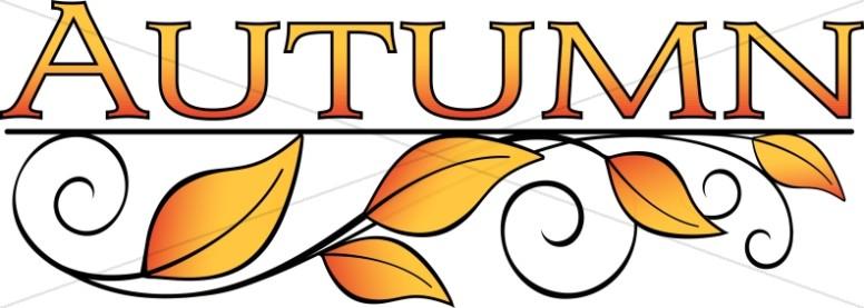 776x277 Autumn Leaves Word Art Thanksgiving Clipart