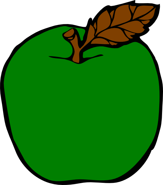 522x593 Blue Apple Clipart