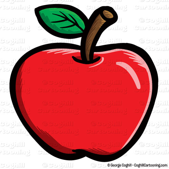 540x540 Cartoon Apple Clip Art Stock Illustration