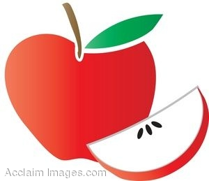 300x259 Clip Art Of A Red Apple