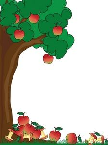 224x300 Green Page Border Of Apple Trees Apple Tree Clip Art Images