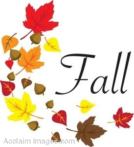 274x300 Clip Art Of The Word Fall With Leaves Around It