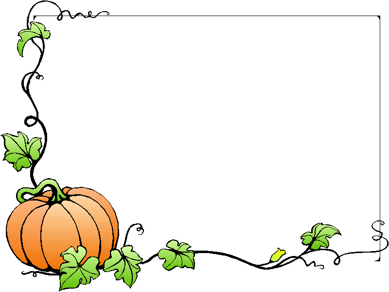 800x600 Clip Art Fall Borders School