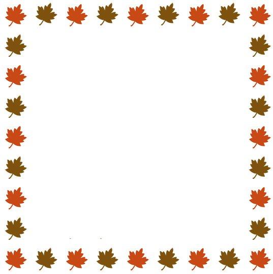 537x539 Fall Border Clipart Amp Look At Fall Border Clip Art Images