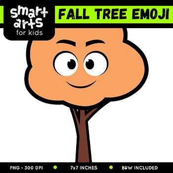 350x350 Fall Tree Emoji Clip Art By Smart Arts For Kids Tpt