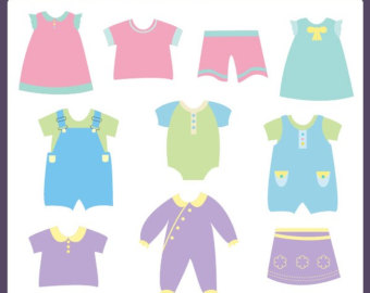 340x270 Kids Clothes Clipart