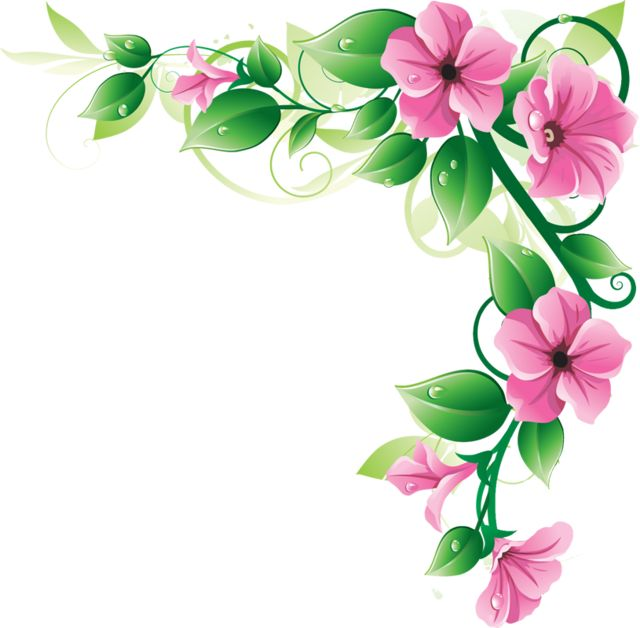 640x628 Easter Flowers Borders Clip Art Happy Easter 2018