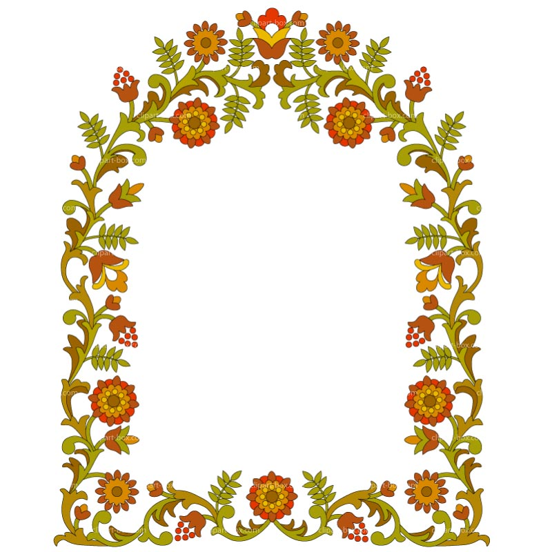 800x800 Flower Clipart Frame Design Pencil And In Color Clip Art Round