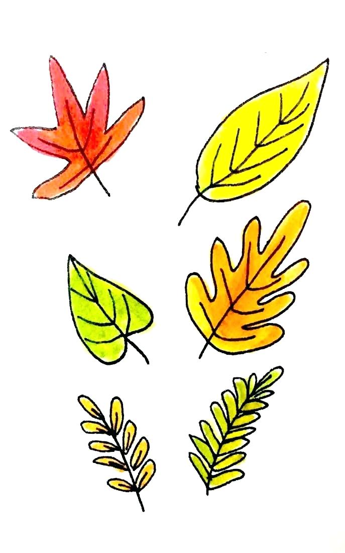 687x1099 Clip Art Fall Leaf Clip Art Autumn Leaves Border Rosenwerk Work