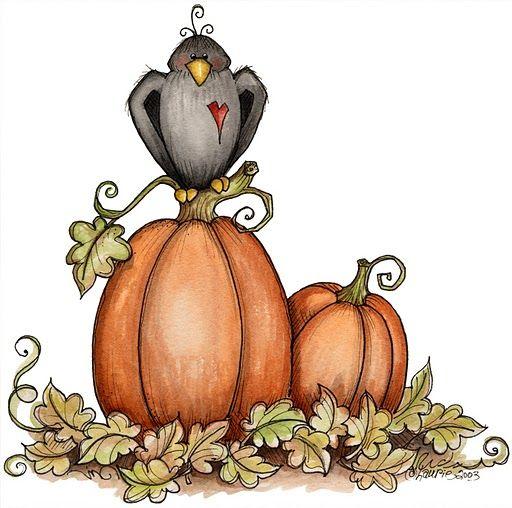 512x508 Crow And Pumpkins