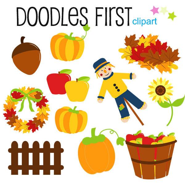 600x600 Fall Season Fun Clipart Digital Clip Art For Scrapbooking Card
