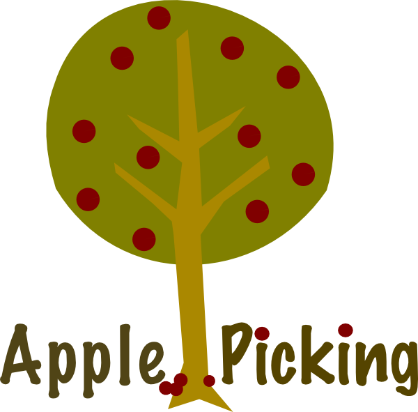 600x591 Apple Picking Tree Clip Art